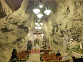 Pauline Church in hillside caves (Budapest, HUNGARY)